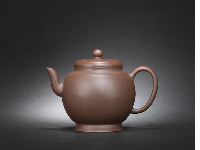 An Yixing teapot and cover, singed Yi Gong