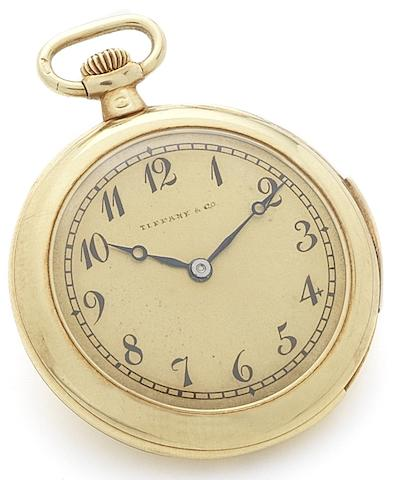 Audemars Piguet. A very fine and rare miniature 18ct gold minute repeating pocket watch Retailed by Tiffany & Co., Circa 1910