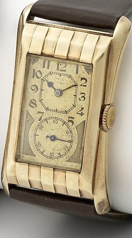 Rolex. A fine 9ct gold colour gold manual wind wristwatch Prince, Numbered 67861/9719, Movement No.73154, Glasgow Import Mark for 1930