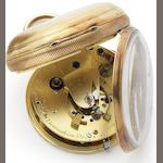 Robert Molynaux. A fine early 19th century 18ct gold key wind pocket chronometer No.730, London Hallmark for 1836