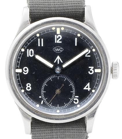 IWC. A stainless steel manual wind military wristwatchMark X, Case No.1134807, Movement No.1086545, Circa 1942