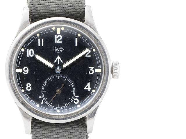 IWC. A stainless steel manual wind military wristwatch Mark X, Case No.1134807, Movement No.1086545, Circa 1942