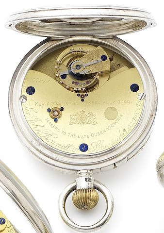 Sir John Bennett. A late 19th century silver key wind open face pocket watch with Karrusel movement Numbered 57011, Kew A Certified, London Hallmark for 1877