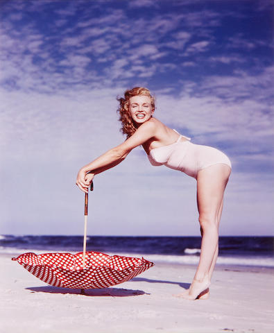 Marilyn Monroe: Andres de Dienes (American 1913-1985) - two authorised photographs of Marilyn Monroe,