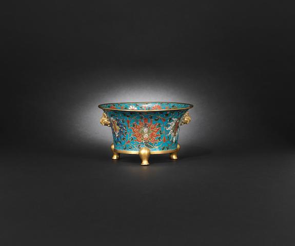 A cloisonne tripod incense burner Ming dynasty