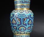 A gilt-bronze and cloisonné-enamelled vase Early Qing dynasty