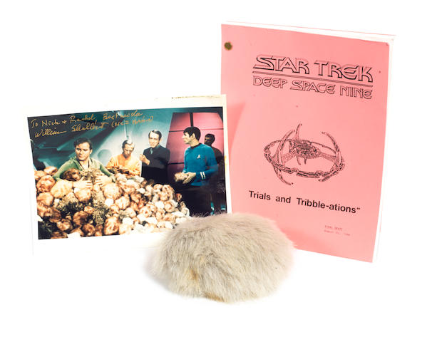 Star Trek Deep Space 9: a Tribble from 'Trials And Tribble-ations', 1996,