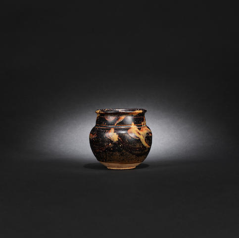 A Jizhou black-glazed jar Song dynasty