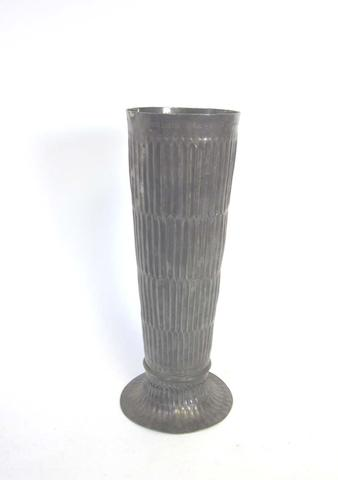 A Britannia standard silver oversize vase London Assay Office, London 1946, also stamped to base with lions head erased
