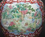 A massive famille-rose baluster vase Qianlong