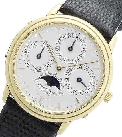 Audemars Piguet. An 18ct gold perpetual calendar wristwatch Ref:C7910, Case No.1771, Circa 1980