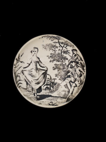 A good creamware snuff box or tobacco box and screw top, circa 1765