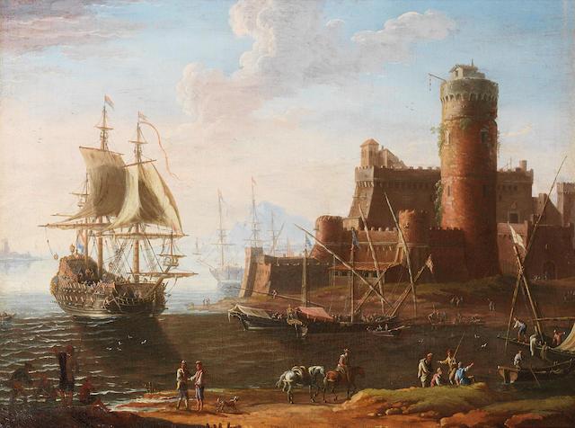 Adriaen van der Cabel (Ryswyck 1631-1705 Lyons) Marine landscape
