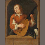 Circle of Willem Van Mieris (Leyden 1662-1747) The Lute Player