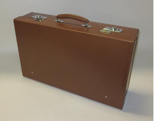 A Bentley leather suitcase,