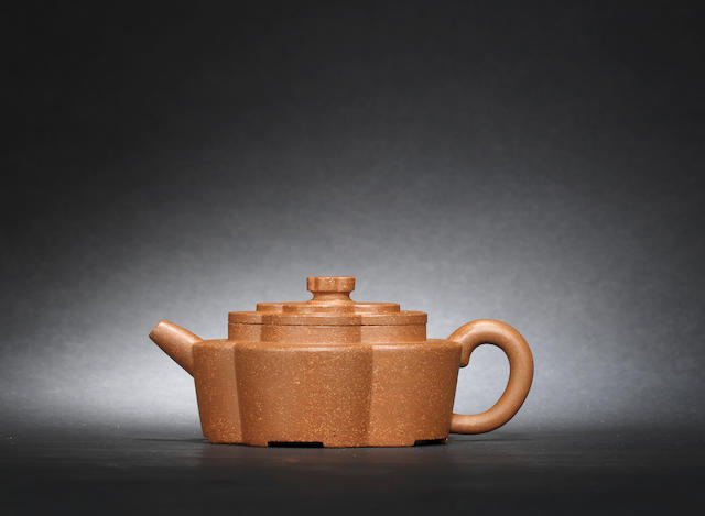 An Yixing 'floral' teapot and cover Qing dynasty, signed Yuan Yulong