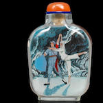 An inside-painted glass 'The White Hair Girl' snuff bottle Anonymous