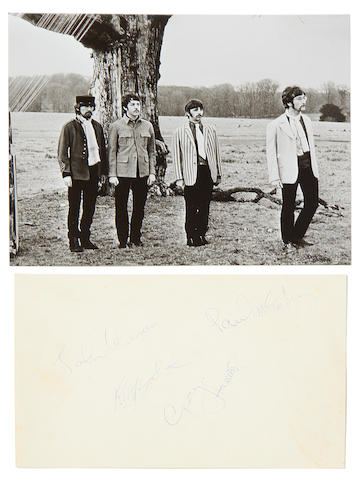 The Beatles: A set of 1967 Beatles autographs,