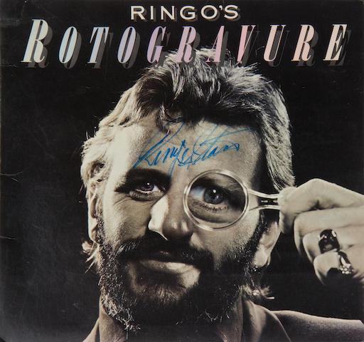 Ringo Starr: an autographed vinyl album, 'Ringo's Rotogravure',