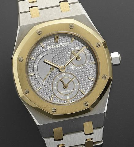 Audemars Piguet. A stainless steel and gold automatic calendar wristwatch together with Certificate of Guarantee Royal Oak Dual Time, No.598, D-88966, Circa 1990
