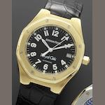 Audemars Piguet. An 18ct gold automatic calendar wristwatch together with Audemars Piguet box  Royal Oak, No.1258, E31489, Circa 1995