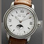 Blancpain. A stainless steel automatic triple calendar wristwatch together with Blancpain presentation box Hundred Hours, Case No.755, Circa 2000