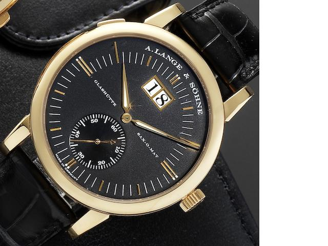 A. Lange & Söhne. A fine 18ct rose gold automatic calendar wristwatch Sax-O-Mat, No.158656, Recent