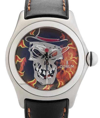 Corum. A limited edition automatic centre seconds calendar wristwatch Bubble Baron Samedi, Circa 2006
