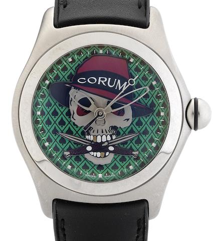 Corum. A fine limited edition automatic centre seconds calendar wristwatchBubble Gangster, Circa 2005