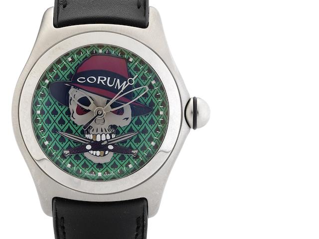 Corum. A fine limited edition automatic centre seconds calendar wristwatch Bubble Gangster, Circa 2005