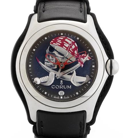 Corum. A fine limited edition automatic centre seconds calendar wristwatchBubble Privateer, Circa 2005