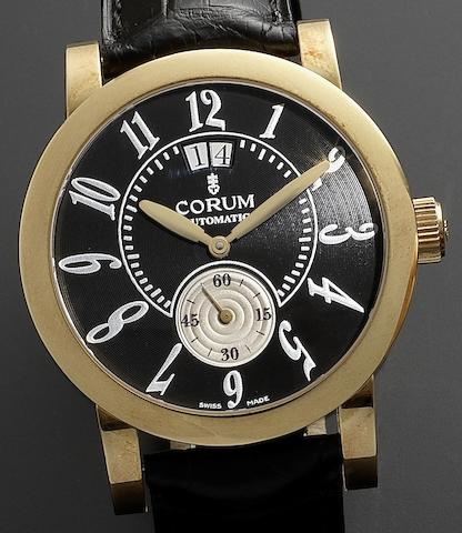 Corum. An 18ct gold automatic calendar wristwatch Grande Clásico, Recent