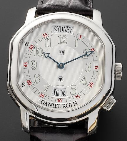 Daniel Roth. A stainless steel automatic wristwatch Vantage Metropolitan, 857.X.10 13603, Recent