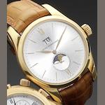 Girard Perregaux. An 18ct gold automatic calendar wristwatch with phases of the moon Clásico Big date, Ref:49530, Circa 2004