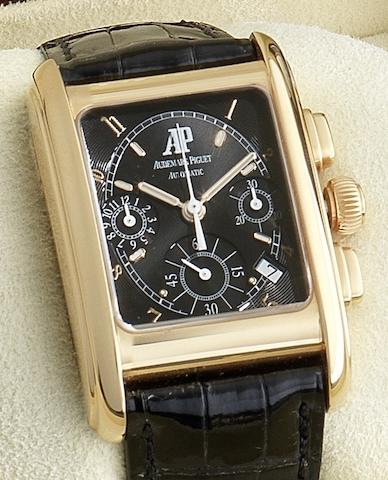 Audemars Piguet. An 18ct gold automatic calendar chronograph wristwatchEduard Piguet, Case No.E53922, Circa 2005