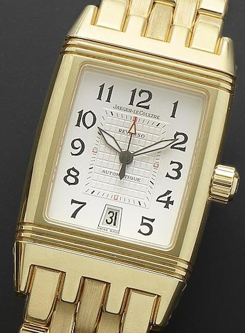 Jaeger-LeCoultre. An 18ct gold automatic calendar bracelet watch with dual timezone indicationReverso Gran Sport, Ref:290.1.60, Case No.2098904, Recent