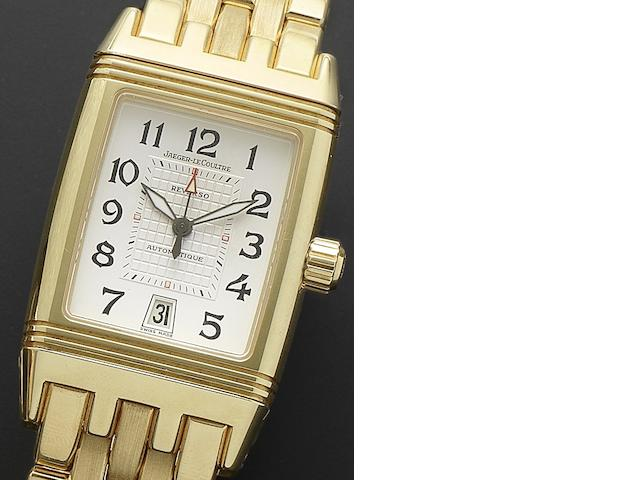Jaeger-LeCoultre. An 18ct gold automatic calendar bracelet watch with dual timezone indication Reverso Gran Sport, Ref:290.1.60, Case No.2098904, Recent