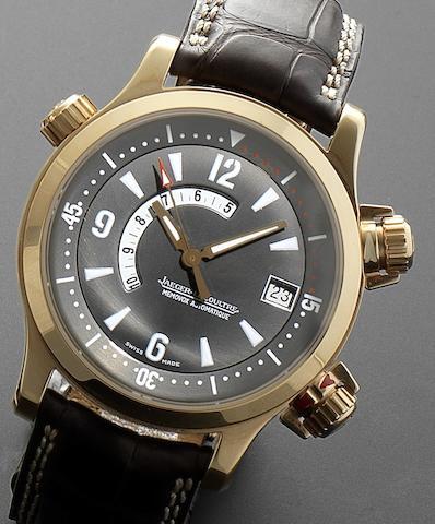 Jaeger-LeCoultre. A fine 18ct rose gold automatic calendar wristwatch  Master Compressor Memovox, Ref:146.2.97, No.0222, Recent