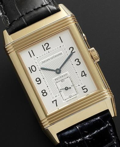 Jaeger-LeCoultre. A fine 18ct rose gold manual wind wristwatch Reverso, Night & Day, Ref:270240544, Case No.1879718, Recent