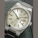 Rolex. A stainless steel centre seconds calendar bracelet watch Oysterquartz, Datejust, Ref:1700, Serial No. 5672034, Circa 1979