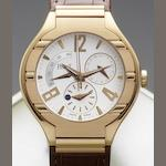 Piaget. A fine 18ct rose gold automatic calendar wristwatch with power reserve, second time-zone and day-night indication Polo, Serial No.P10300, Case No.935910, Sold 18th of July 2006