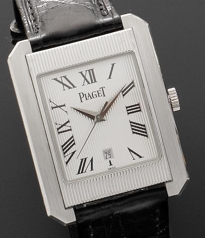 Piaget. A fine 18ct white gold automatic wristwatchProtocol XL, Ref:26100 846976, Recent