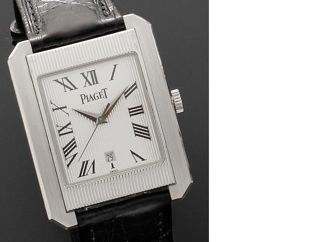 Piaget. A fine 18ct white gold automatic wristwatch Protocol XL, Ref:26100 846976, Recent
