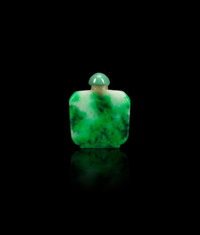 A jadeite snuff bottle Qing dynasty