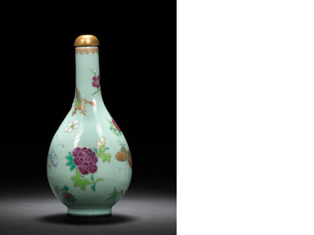 A 'butterflies and flowers' flask  Qianlong