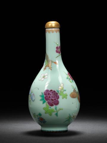 A 'butterflies and flowers' flask  Qianlong
