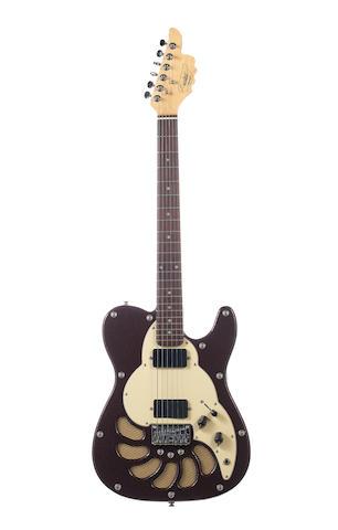 Oasis / Noel Gallagher: A circa 1998 Lindert 'Twister' electric guitar,