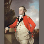 Tilly Kettle (London 1734-1786 Aleppo) Portrait of Captain Robert Stewart of St. Fort, Fife (died 1799), half-length, in military uniform, standing