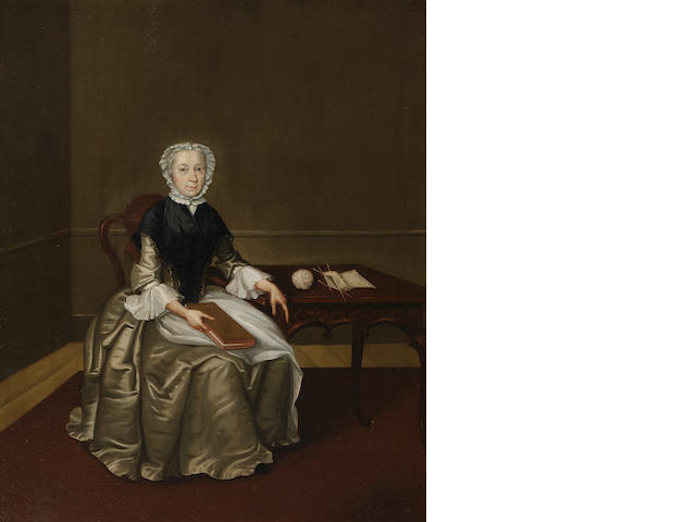 Arthur Devis (Preston 1712-1787 Brighton) Portrait of Mrs Wettenhall