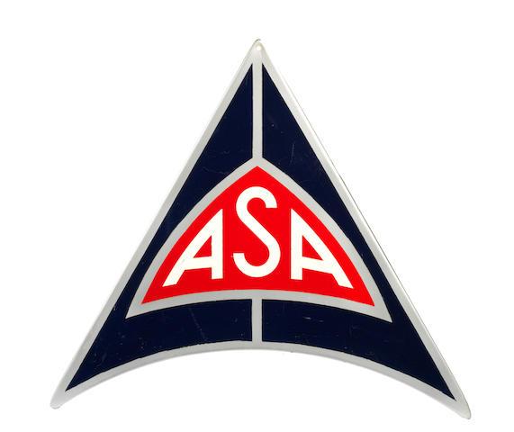 A rare ASA dealers sign, Italian, 1964,